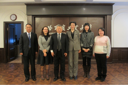 Fan Feng (Assistant President) Met with Anne Rulliat (Consul General of France in Shenyang)and Her Entourage
