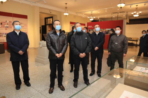 WAN Lijun , Chairman of the All-China Federation of Returned Overseas Chinese, and his entourage visited HIT for investigation